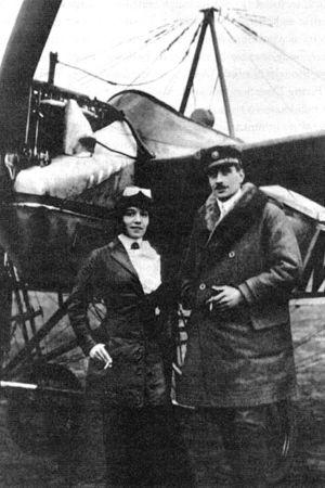 Amelie, Melli Beese och Charles Boutard, flygpionjärer.