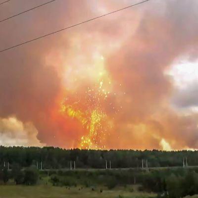 Explosion i ammunitionsdepå i Krasnojarsk den 5 augusti 2019