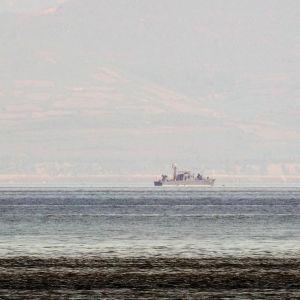 Bild på nordkoreansk patrullbåt.