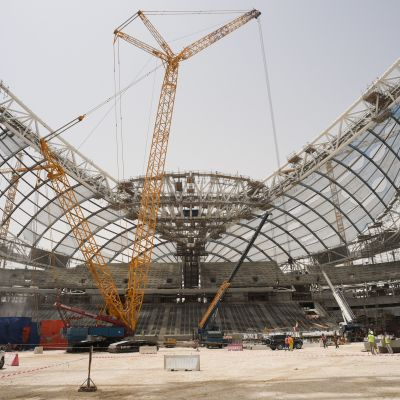Qatarin MM-kisojen rakennustöitä on kritisoitu.