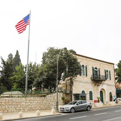 Yhdysvaltojen suurlähetystö Jerusalemissa.