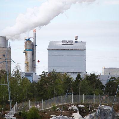 En av Yaras produktionsanläggningar i Nystad.