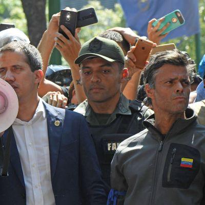 Venezuela Juan Guaido ja Leopoldo Lopez