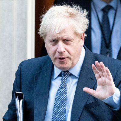 Boris Johnson lauantaina 19. lokakuuta.
