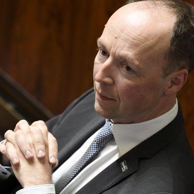 Perussuomalaisten puheenjohtaja, kansanedustaja Jussi Halla-aho.