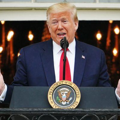 Kuvassa on presidentti Donald Trump.