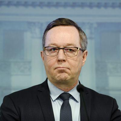 Kuvassa on elinkeinoministeri Mika Lintilä.