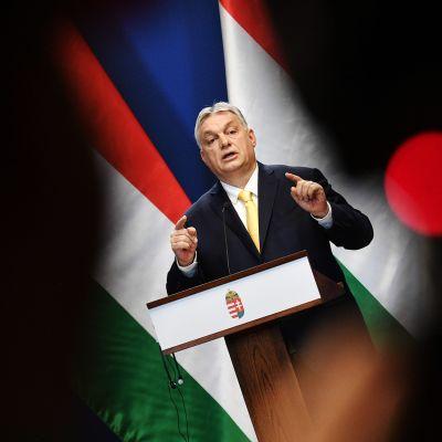 Kuvassa on Unkarin pääministeri Viktor Orban.