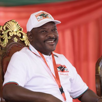 Kuvassa on Pierre Nkurunziza.