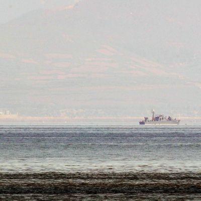 Kuvassa on Pohjois-Korean vartiovene.
