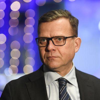 Kokoomuksen puheenjohtaja Petteri Orpo Ilta-Sanomien kuntavaalitentissä.