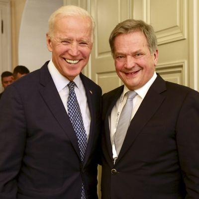Joe Biden ja Sauli Niinistö.