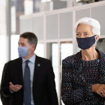 Paschal Donohoe ja Christine Lagarde