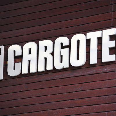 Cargotechin logo pääkonttorilla Helsingissä.