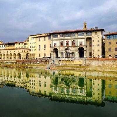 Uffizi galleria Firenzessä.