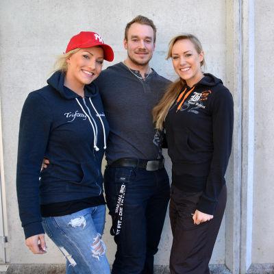 Camilla, Robert och Sara Back.