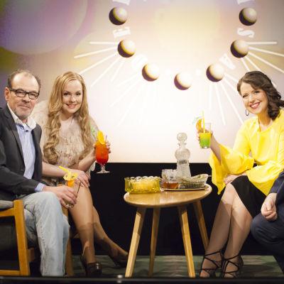 De Eurovisa Johan Lindroos, Emma Sandström, Tomas Ek och Eva Frantz.