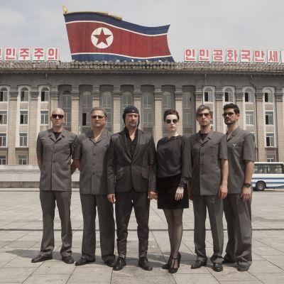 Laibach bändi Pohjois-Koreassa.