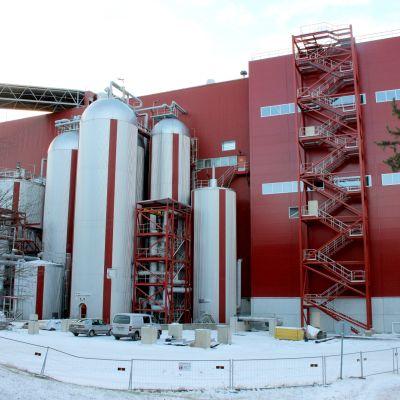 Stora Enson Enocell-sellutehtaan laajennusosa, jonka on määrä aloittaa toimintansa loppuvuodesta 2019.