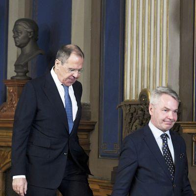 Sergei Lavrov ja Pekka Haavisto