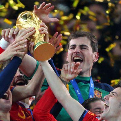 Spanien firar segern i VM 2010