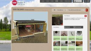 Skärmdump på sajten hometalkoot.fi, på sidan om problem med 70-talshus.