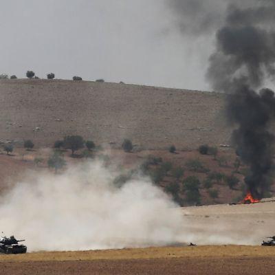 Turkin tukemat Vapaan Syyrian armeijan (FSA) joukot hyökkäsivät Isis:tä vastaan 24. elokuuta Karkamiksessa Turkissa.