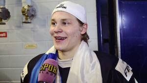 Kasper Björkqvist, skärmdump av Aftonbladets video.