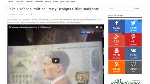 Kuvakaappaus StopFake-sivustolta.