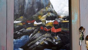 En målning av ett norskt landskap.