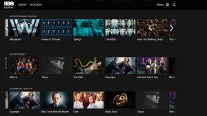 HBO Nordics webbplats