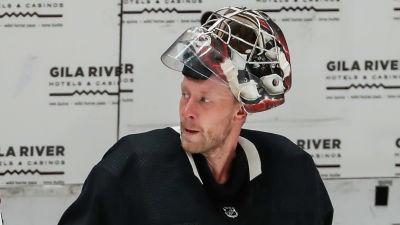 Antti Raanta i närbild.