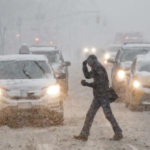 Vinterstorm i New York den 9 februari 2017.