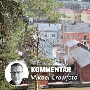 bild på mikael crawford och Borgå ovanifrån