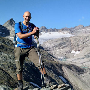 Hoher Sonnblick uppe på ett berg.