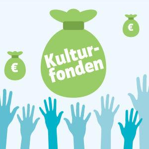 BIldsättningsbild med pengasäckar och händer