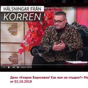 Skärmdump från det ryska tv-programmet Modedomen.