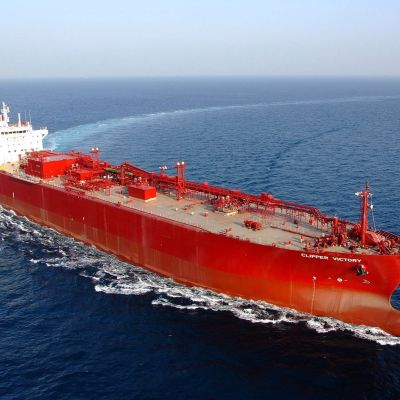 LPG-fartyget Clipper Victory levereran från Hyundai i janauri 2009.