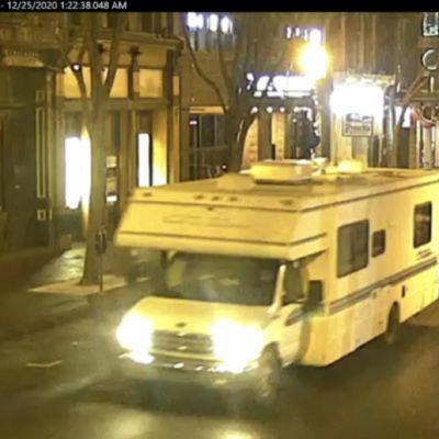 Poliiisn julkaisema kuva matkailuautosta, jonne pommi oli sijoitettu.