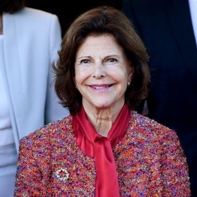 Ruotsin kuningatar Silvia työmatkallaan Saksan Leipzigissä syyskuussa 2018.