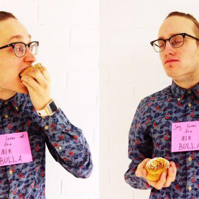 Axel Åhman lovar att äta mer bulla.