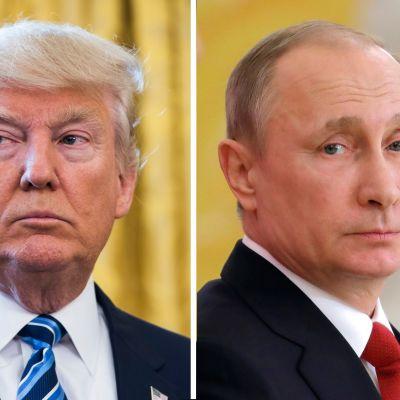 Yhdysvaltain presidentti Donald Trump ja Venäjän presidentti Vladimir Putin.