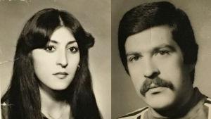 Kuvassa Sebastin ja Shahla nuorina