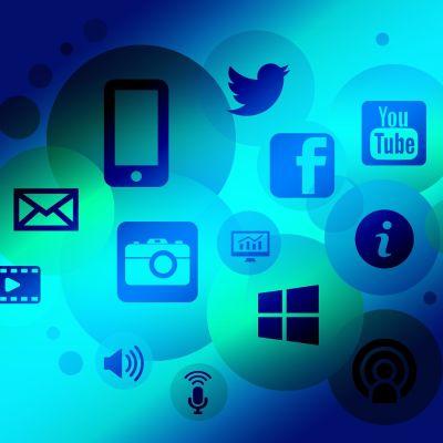 olika företagssymboler som finns på internet