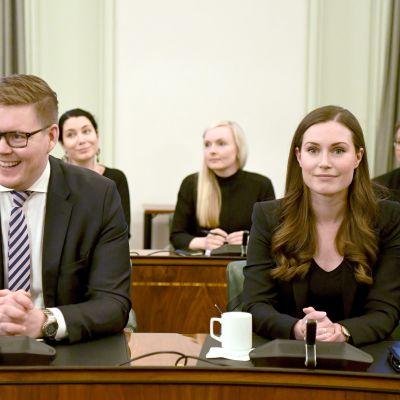 Antti Lindtman ja Sanna Marin.