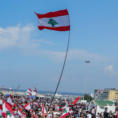 Regeringsfientliga demonstrationer i Beirut.