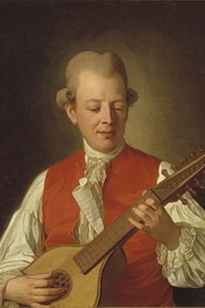 Carl Michael Bellman, målning  av Per Krafft 1779.