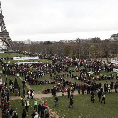 Demonstration under klimatmötet i Paris 2015.