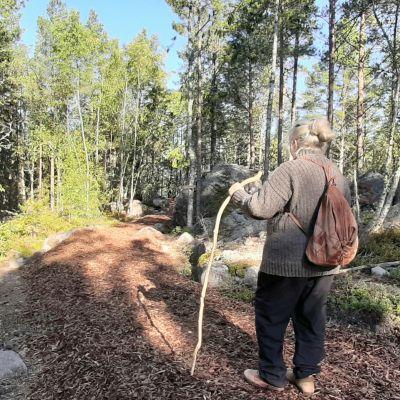 Mirjam Silvén on ideoinut Norrskatan pyhiinvaelluspolukua Köklotiin Vaasan saaristoon.