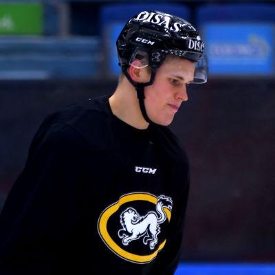 Jesse Puljujärvi på Kärpäts träningar, januari 2020.